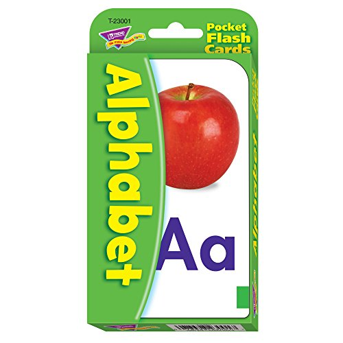 "Alphabet Pocket Flash Cards, 3-1/8""x5-1/4"", 56/CD, Ast, Sold as 1 Box"