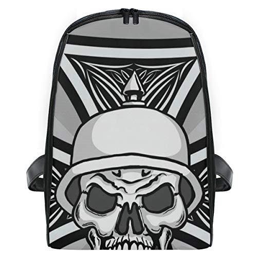 ELIENONO Zerhacker Hot Rod Cross Skull Wearing,Laptop Rucksack für Männer Schulrucksack Multifunktionsrucksack Mini Tagesrucksack für Schule Wandern Reisen Camping -