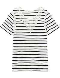 Promod Maritimes T-Shirt mit Spitze