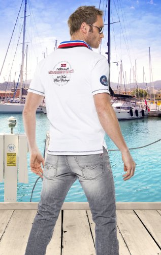 Nebulus Polo-Shirt Benter, T-Shirt, (N05) Herren weiß