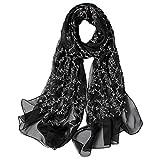 Ju-sheng Seide gemischt Druck Lange Schal Frauen Frühling und Herbst Schals Klimaanlage Schal...