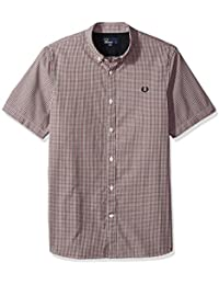 Fred Perry Men's Three Colour Basketweave Shirt