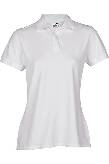 Fruit of the loom Damen Poloshirt Lady-Fit Polo 65//35 Shirt 10 Farben XS-XXL