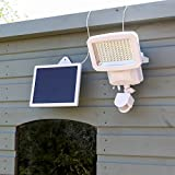 High Power Solar Security Light - 800 Lumen - Bright White - PIR Sensor by Super Solar (White)
