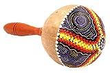 Maracas de hecha a mano de coco madera Carnaval instrumento Percusión pintado