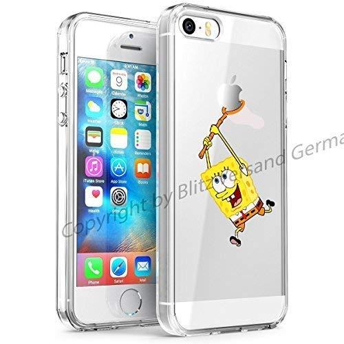 Blitz disney custodia protettiva trasparente tpu vignetta umoristica comic case iphone 5 - spongebob squarepants, iphone 5/5s