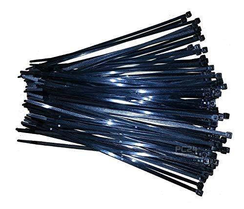 UV-beständige Kabelbinder 200mm Schwarz 100Stck. - Premiumqualität von PC24 Shop & Service