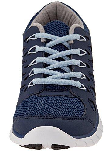 oodji Ultra Damen Sneaker mit Kontrastbesatz Blau (7970B)