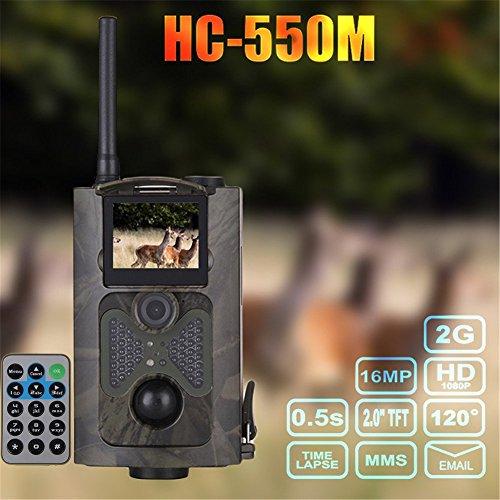 HC-550M Wildkamera Fotofalle 16MP SMS MMS SMTP 2G HD Jagdkamera Infrarote 20m Nachtsicht, Trail Spiel Wildlife Kamera mit 2.0