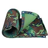LPYMX Camping Schutz Plane, leinwand Wasserdichte Plane Camping Matte hohe temperatur Anti-Aging Zelt Tuch LKW Abdeckung, Camouflage (Farbe : A, größe : 3 * 5m)