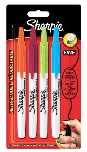 sharpie-pennarello-indelebile-a-punta-fine-con-punta-retrattile-colore-nero-confezione-da-4-colori-a