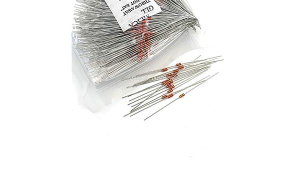 100K Ohm NTC DIY Glas verkapselter Widerstand thermistors–Mehrfarbig 50tlg.