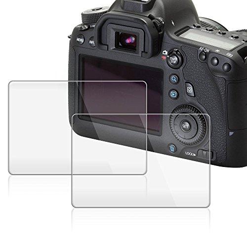 pellicola protettiva per Canon EOS 6D AFUNTA 2 Pezzi anti graffio in vetro temperato