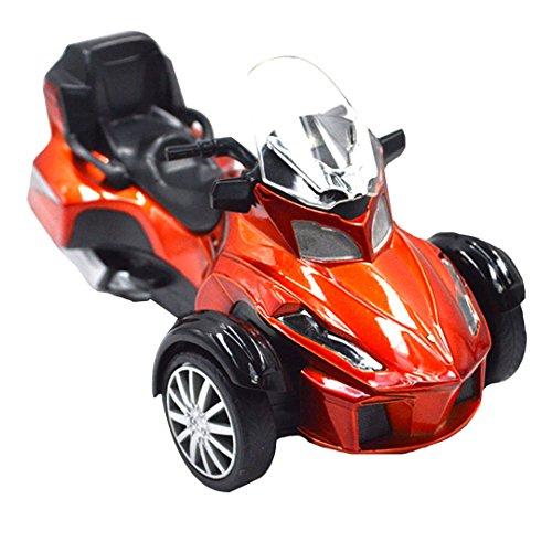 Milya 1 PCS Legierung Motorrad Modell Tiya Duo 556S Legierung Serie Kinderspielzeug zufällige Farbe Rot oder Orangerot
