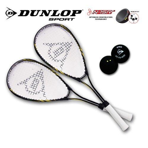 Dunlop Competition Lot de 3 balles de squash (1point)