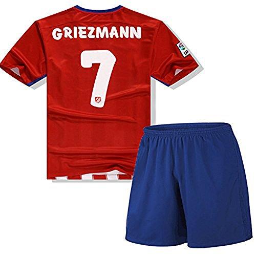 Maillot de football 2016 Antoine Griezmann 7 Pour enfant Rouge moyen Red
