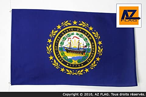 NEW HAMPSHIRE FLAG 2' x 3' - US STATE OF NEW HAMPSHIRE FLAGS 60 x 90 cm - BANNER 2x3 ft High quality - AZ FLAG