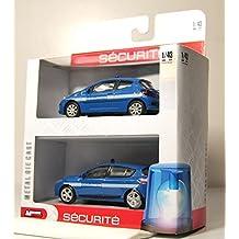 Générique Renault Megane + Peugeot 207 GENDARMERIE : Set of 2 Cars ...