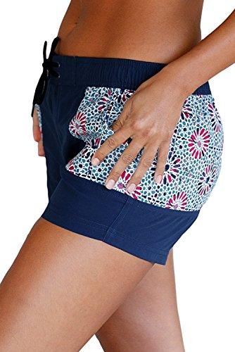 Shorts kurze Hose Damen Strand shorts Badeshorts Hot Pants Sport Und Freizeit Zu Hause Muster/Streifen Plus Size Shorts Muster
