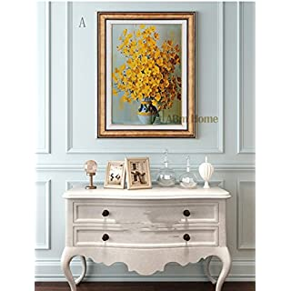 ABM Home -Flowers (51cm x 66cm/each Frame/single frame) Wall Art, Large Wall Picture Frame, Vintage Style,Framed Canvas, Large Poster (Gold A)