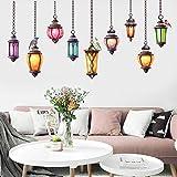 QWHUA 1 Pc Colorful Suspension Lampe Stickers Muraux Exotiques Autocollants Art Home Room Vinyle Décor Home Stickers Muraux...