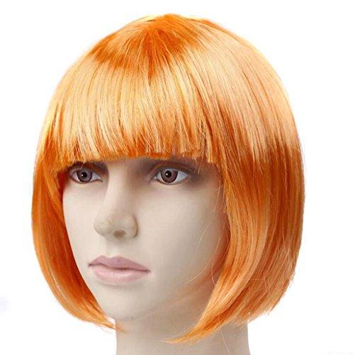 Longless Halloween Make-up Kleider kurze Haare Perücken cute Perücken (Nicht Lahm Halloween Kostüme)