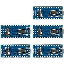 XCSOURCE® Juego de 5pcs Tarjeta Micro Controlador Mini USB Nano V3.0 ATmega328P 5V 16M para Arduino TE359