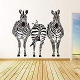 zqyjhkou Trois Zèbres Stickers Muraux Salon Vinyle Murale Decal Amovible Animal Home Decor Stickers Muraux pour Enfants Chambre H204 42x46 cm