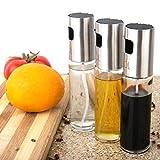 Style A Ölsprüher 3 Pack Essig öl Set Sprayer Flasche Ölspender Trennspray, Salat, Grill, Küche Backen, Rösten, 100ML Kapazität (B)