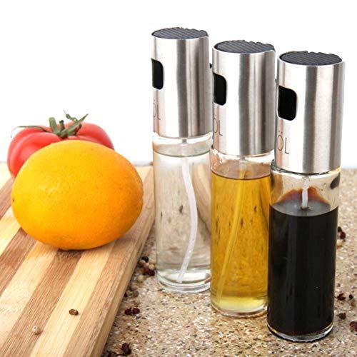 StyleA Ölsprüher 3 Pack Essig öl Set Sprayer Flasche Ölspender Trennspray, Salat, Grill, Küche Backen, Rösten, 100ML Kapazität (A)
