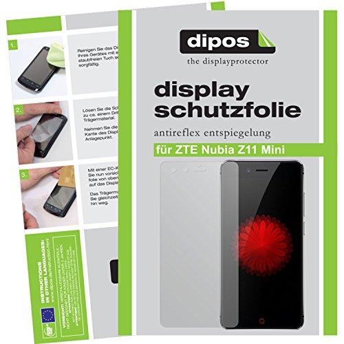 dipos I 2X Schutzfolie matt passend für ZTE Nubia Z11 Mini Folie Bildschirmschutzfolie