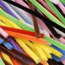 Artstraws - Set di 100 bastoncini in ciniglia per lavoretti artistici, 4 mm x 15 cm, colori assortiti