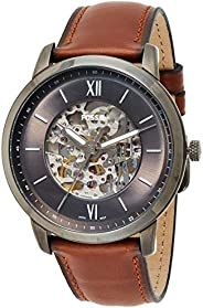 Fossil Men's Automatic Watch, Analog Display and Leather Strap - ME