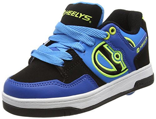 Heelys Flow 770608, Jungen Lauflernschuhe Sneakers , Mehrfarbig - multi (Royal/Black/Lime) - Größe: 40.5 EU (7 UK)