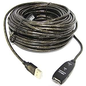 Cablematic - Câble de rallonge USB 02:00 > 1xAH alimenté (15m)