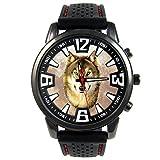 Timest - Lobo - Reloj para hombre con correa de silicona negro Analógico Cuarzo CSF039