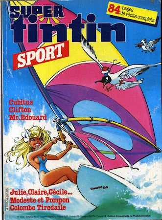 Tintin Super n° 34 /44 bis - Sport - couverture D...