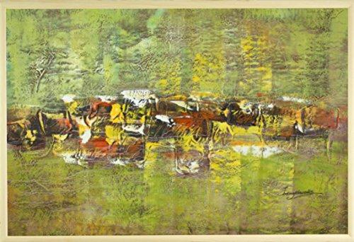 dans-le-milieu-vert-huile-sur-toile-peinture-60-x-90-cm-61-x-914-cm-encadree-en-brown-gold-cadre-pho