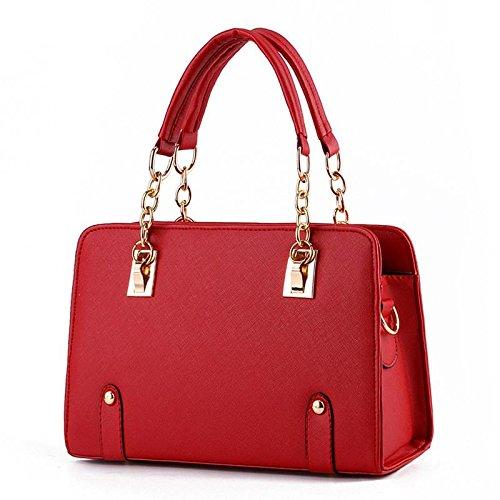 HQYSS Borse donna Estate alla moda modelli Lady catena tracolla Messenger Handbag , pink wine red