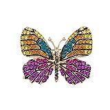 Shinning Schmetterling Brosche Abzeichen Pin Gold überzogene Ton Zirkonia Party Geschenk,H-M