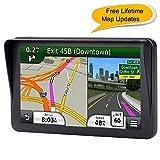 Car GPS, 7 inch Sat-Nav Portable Navigation System for Cars, Lifetime Map Updates