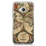 CASEiLIKE® HTC U Play Hülle, HTC U Play TPU Schutzhülle Tasche Case Cover, Weltkarte Weinlese 4607, Kratzfest Weich Flexibel Silikon für HTC U Play