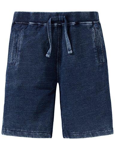 Schiesser Jungen Hose Sweat Shorts, Blau (Dunkelblau 803), 152 -