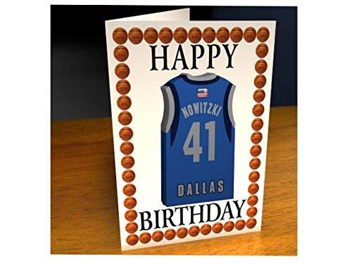 NBA basketball jersey a tema magnete Birthday Cards–Biglietto di auguri personalizzato–qualsiasi