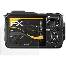 atFoliX Schutzfolie für Nikon Coolpix AW120 Displayschutzfolie - 3 x FX-Antireflex blendfreie Folie