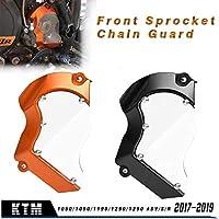 Protecteur de protection de couverture de chaîne de pignon avant de moto pour KTM 1050/1090/1190/1290 1290 Adventure/S/R 2017 2018 2019/1290 DUKE/GT/R Accessoires (Noir)