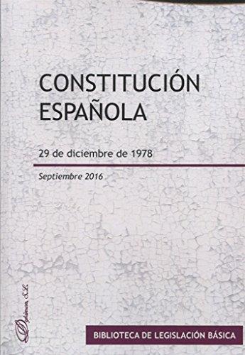 Constitución española. 29 de diciembre de 1978 por Dykinson