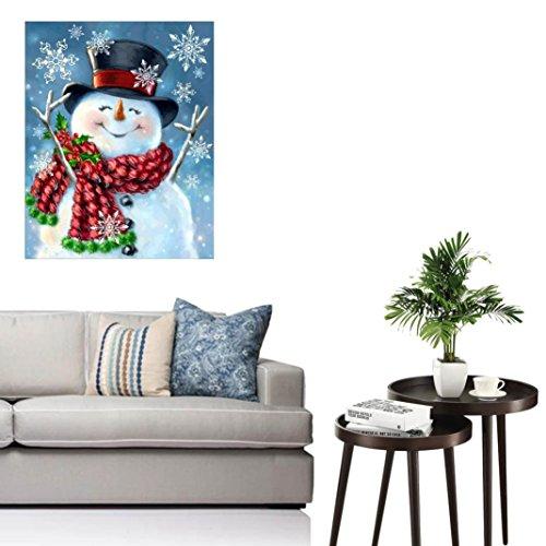 LeeY 5D Diamant Malerei DIY Crystal Strass Stickerei Weihnachtsmann Harz Dekoration Wohnzimmer Schlafzimmer 30cmx40cm (A)