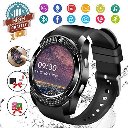Smartwatch Android,Bluetooth Smart Watch Telefono con SIM Card Slot e Fotocamera,Orologio Fitness Sport Android Wear Pedometer per...