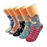 Socken von Frauen Aimke 5 dicke weiche Socken aus Schafwollen im Winter und Herbst, Mehrfarbig-002, Gr. One size